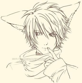 .Fox Boy. -Lineart- by draemface
