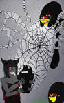 'Trapped In My Web~' (2/3 of the watchers picture) by GlyGly303