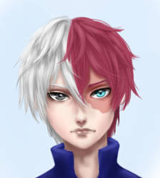 Shoto Todoroki by wolffriends