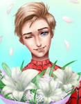 Blonde Peter Parker by wolffriends