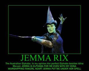Jemma Rix The Aussie Elphaba Motivational Meme by SHANNON-CASSUL-LOVER