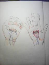 Drooling Hands by JnJrz