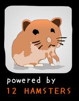 Powered by 12 hamsters by brankovukelic