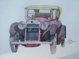 Marker Drawing of my dad's buick by prestonthecarartist