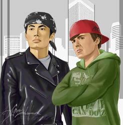 Disguise - Sulu and Chekov by ayumi-lemura