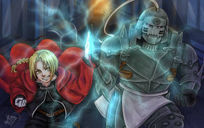 Elric Brothers by Michelle-Kristolia