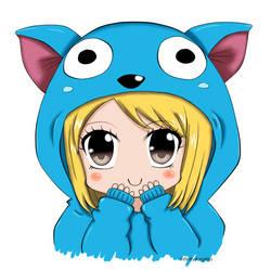 Chibi Neko Lucy by LoloHime