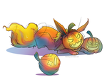 Halloween Flareon by Himmely