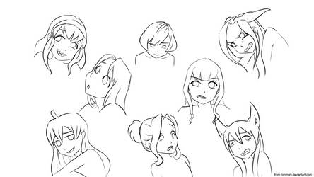 Face Expressions set1 by Himmely