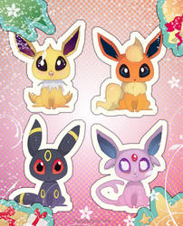 X-mas Eeveelutions by Himmely