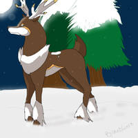 Sawsbuck-Winter by moichao10
