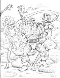 Fantastic Four Sketch by CharlieAabo