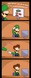 Luigi Wants Some Mario Odyssey Too [Comic + Dub] by Gabasonian