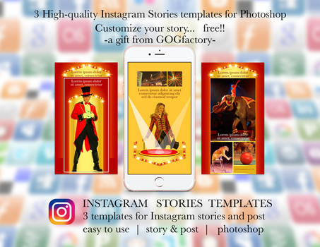 Instagram Stories free templates by Gogfactory