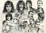 Freddie Mercury sketches by SakuTori