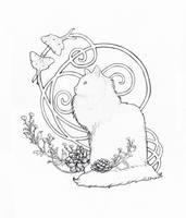 Le Chat et les Papillons Lune by Bit-sinna