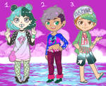 Sea Punk Adopts (2/3 OPEN) by Sealestial