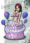 Happy Bday CMO Cake by MixelDraws