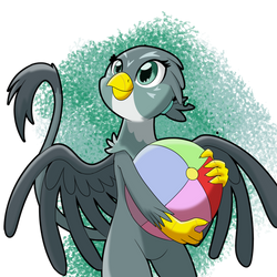 Gabby and her ball by chedx