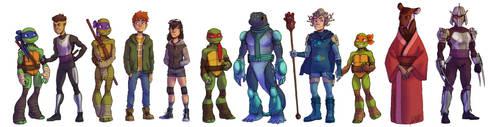 Teenage Mutant Kunoichi Turtles by WinterHeath