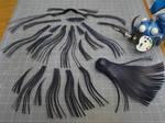 Nagisa WIP 5: Strips of hair by BRSpidey