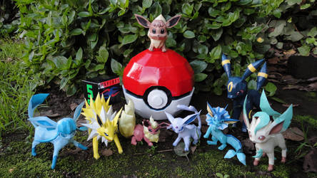 Eeveelutions papercrafts by BRSpidey