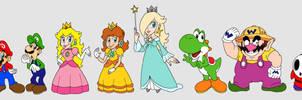 Random Mario Line-Up by TuxedoMoroboshi