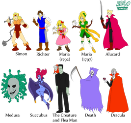 Castlevania Characters by TuxedoMoroboshi
