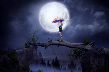Girl and moon by yijing64