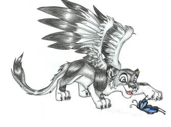 Winged Wolf - Lion King by Tirana-Weaving