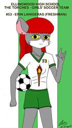 Erin Lanigeras on the girls soccer team by peridotdreams