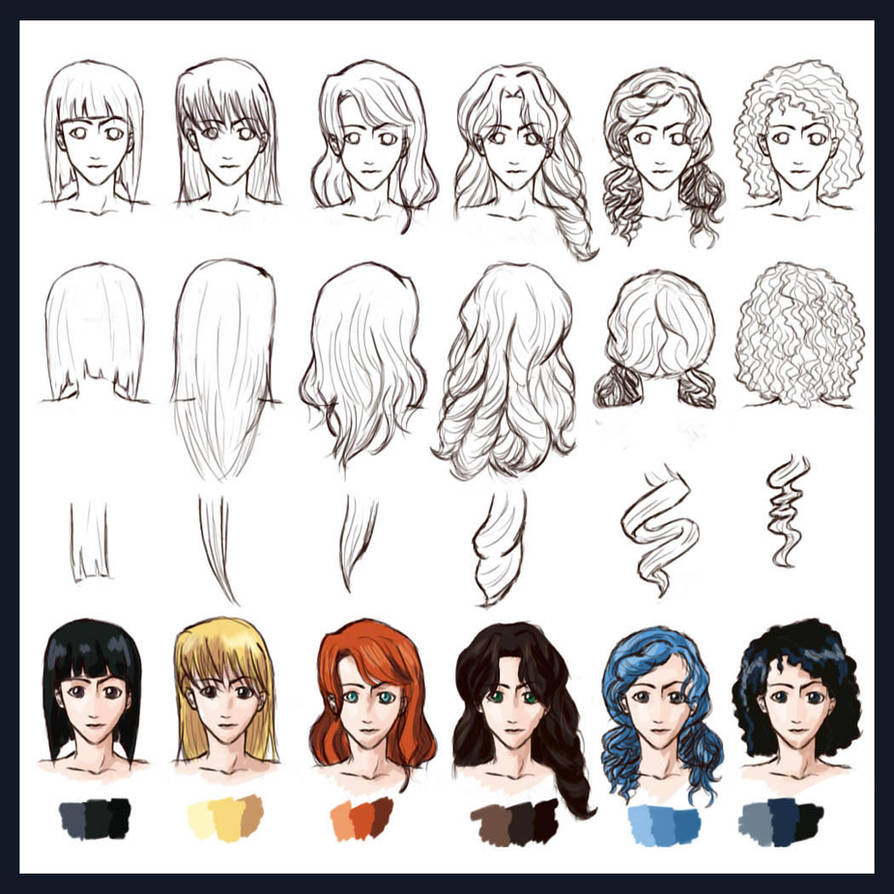 Hair Styles: Straight to Curly by foreverfornever740
