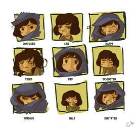 Desert Character Emotion Sheet by foreverfornever740