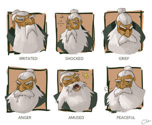 Grumpy Old Man Emotion Sheet by foreverfornever740