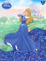 OriginalDisneyPrincess- Aurora In Blue ByGF by GFantasy92