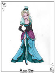Queen Elsa Steampunk by GFantasy92 by GFantasy92