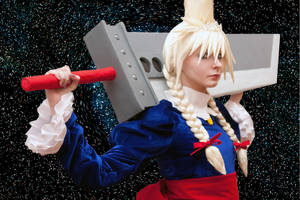 Cloud Strife in Dress cosplay by 696Axel696