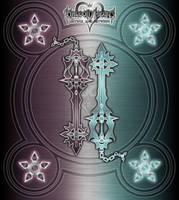 Twin Keyblades - Digital Artefacts - by WeapondesignerDawe