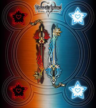 Twin Keyblades - Equilibrium - by WeapondesignerDawe