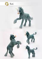 Poseable Art Doll, Unicorn, Ilus by FellKunst