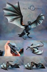 Poseable Art Doll, Ice Dragon, Viserion by FellKunst