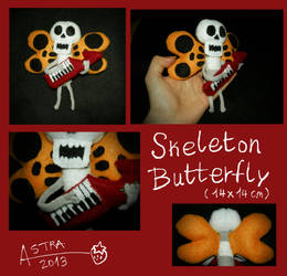 Skeleton Butterfly Plush by DemodexPlush