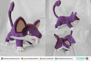 Rattata Plush by DemodexPlush