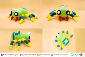 Spinarak Plush by DemodexPlush