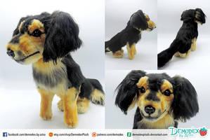 Dog plush by DemodexPlush