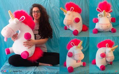 Fluffy unicorn Plush by DemodexPlush