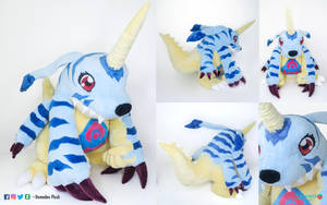 Gabumon Plush by DemodexPlush