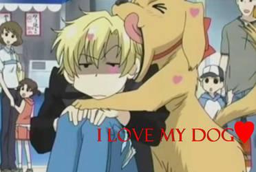 Tamaki hearts his dog by XxBanannaxX