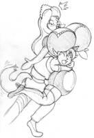 Tackle Hug by bouncymischa