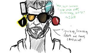 Deus Ex: Sunglasses Revolution by LassieTheRex